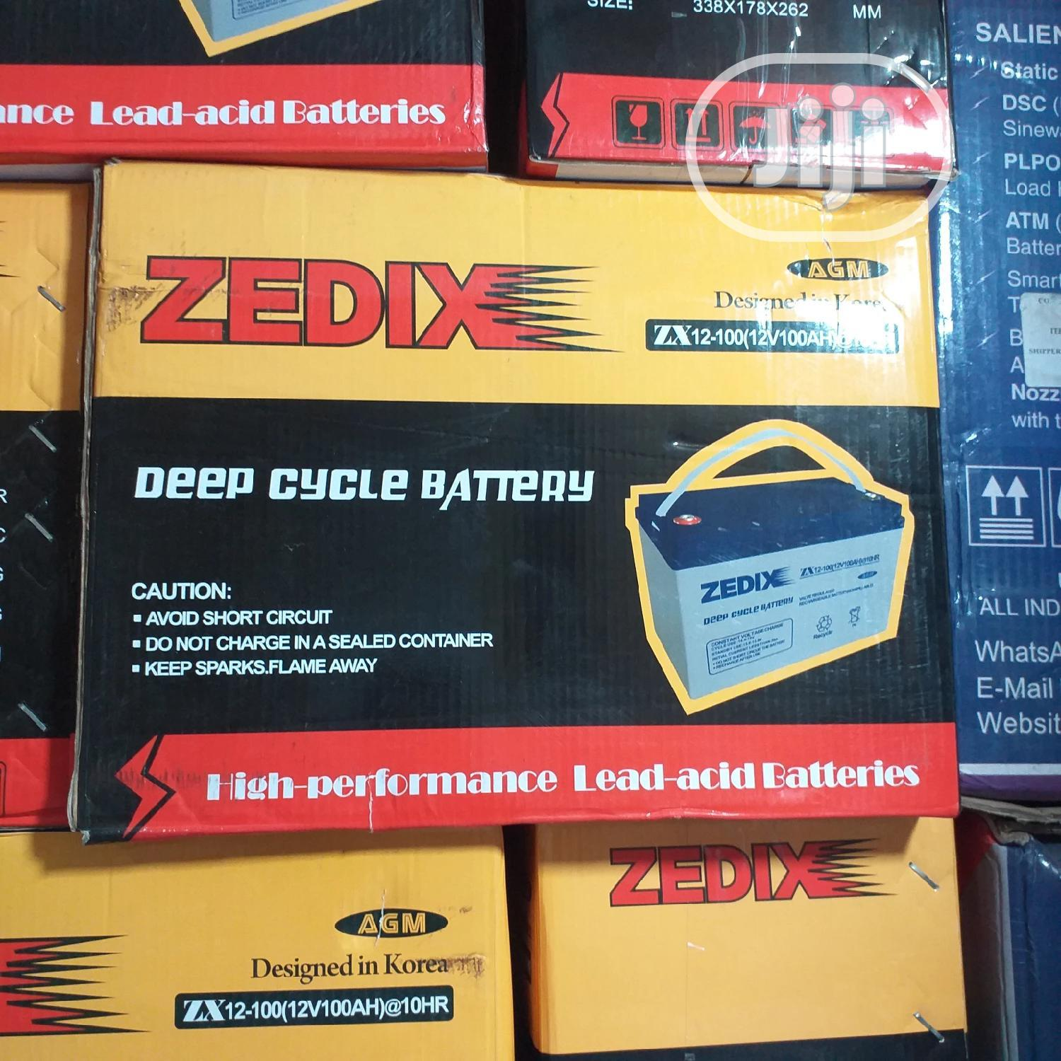 Zedix Deep Cycle Battery 12V 100ah