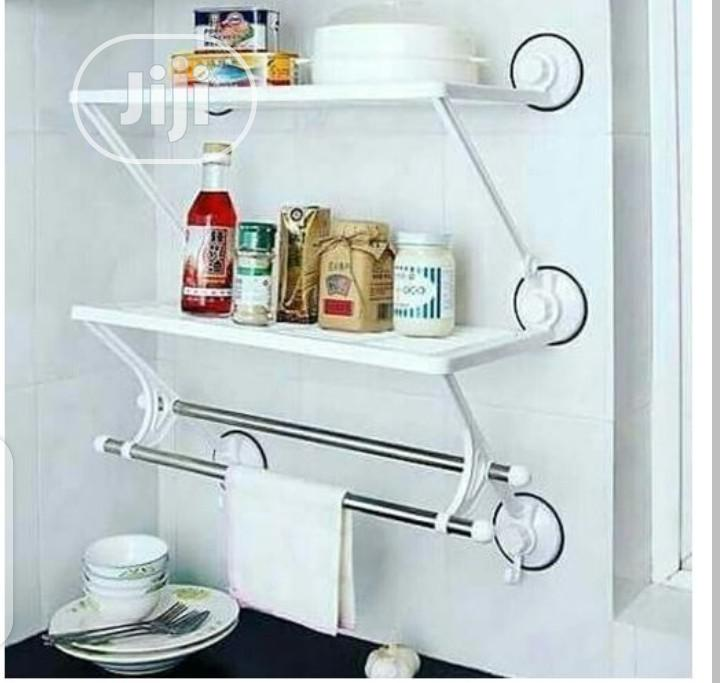 Archive: Double Layers Double Rods Shelf With Double Suction Cup