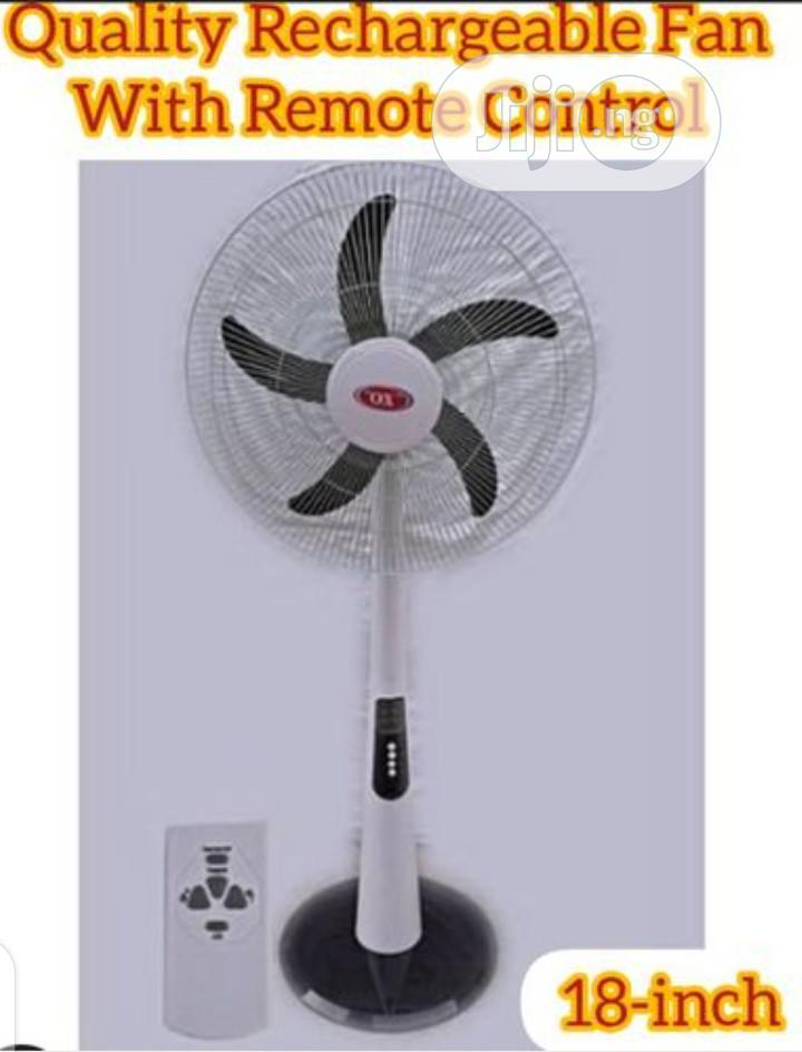 Archive: Ox Quality 18inch Rechargeable Standing Fan Wit Remote