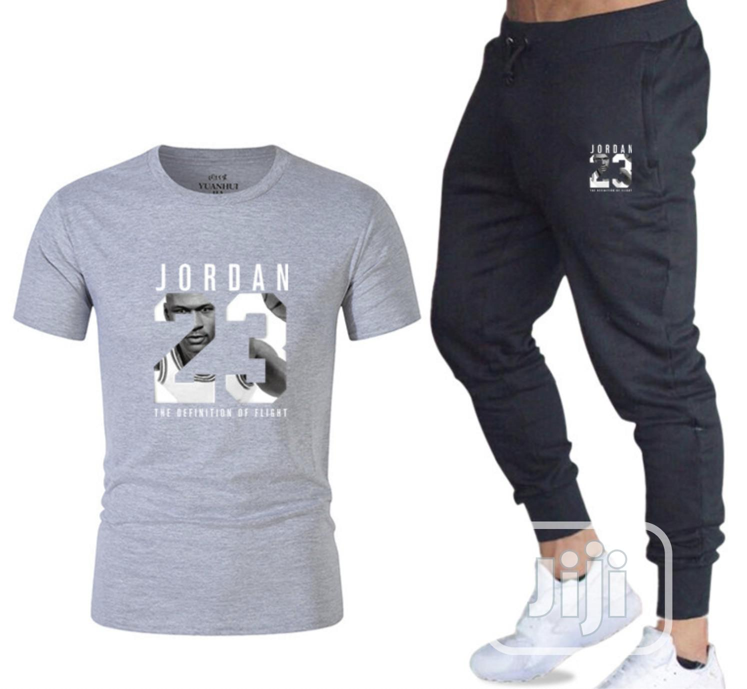 Two-Piece Sports Suit T-Shirt for Men- Fitness Joggers