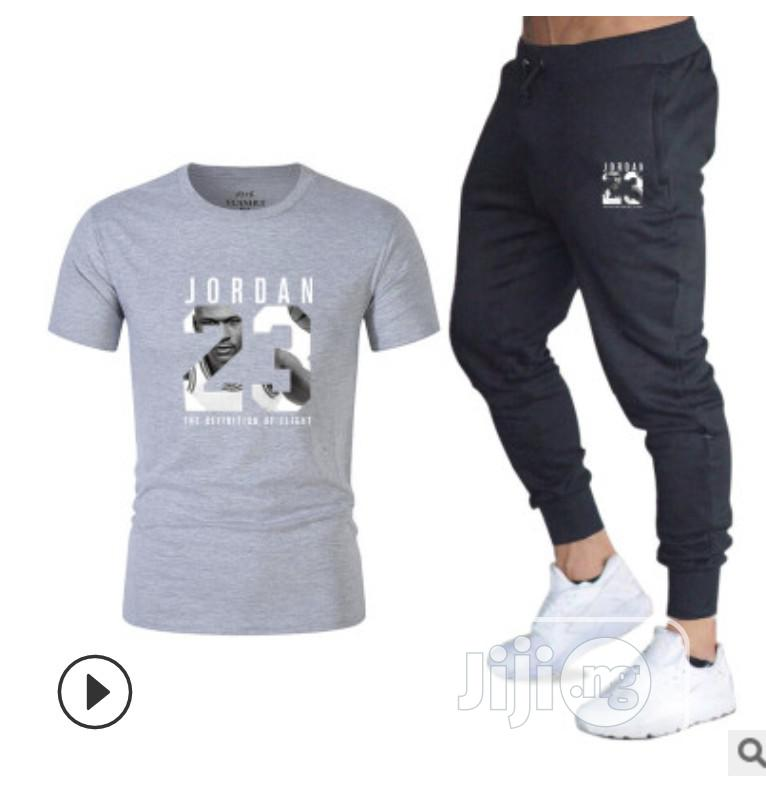 Two-Piece Sports Suit T-Shirt for Men- Fitness Joggers | Clothing for sale in Ibadan, Oyo State, Nigeria