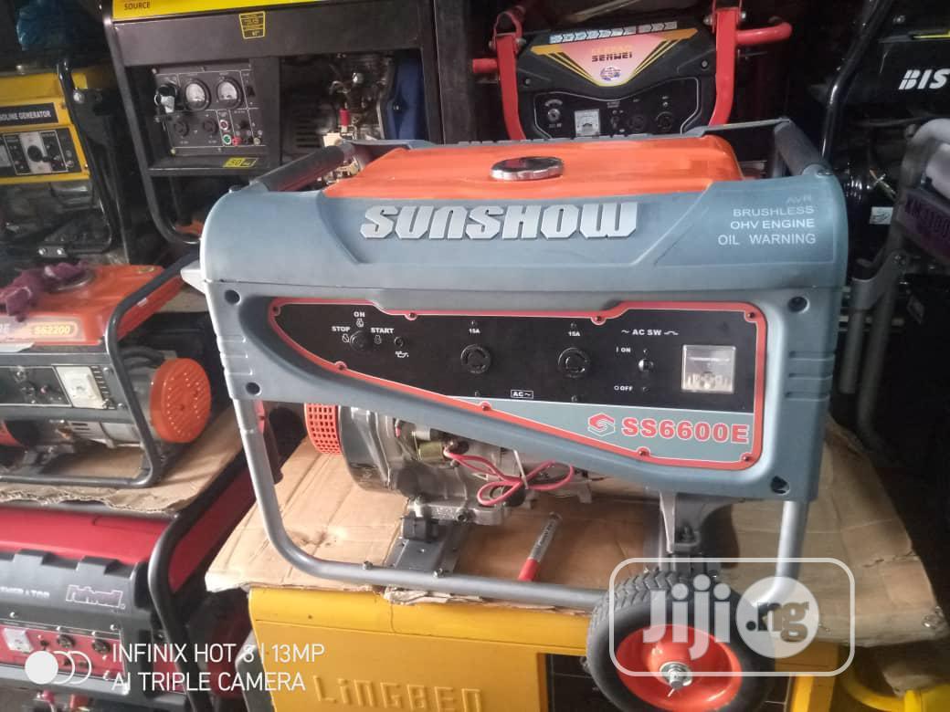 7.5kva Sunshow Generator 100% Coppa Coil