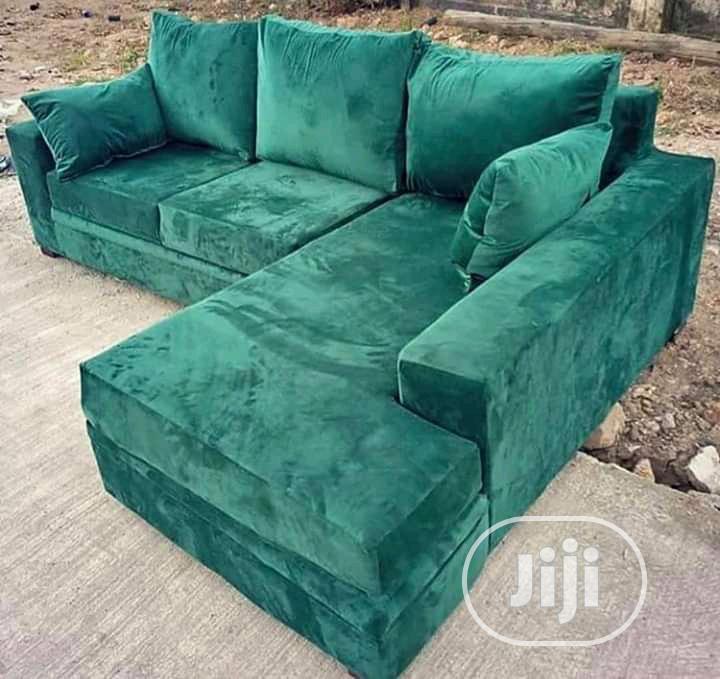 Portable L- Shaped Fabric Sofa