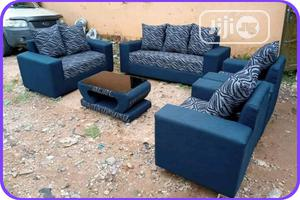 7 Seater Blue Sofa With Center Table | Furniture for sale in Lagos State, Agege