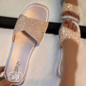 Rhinestones Sequin Jelly Slippers (Size 37)   Shoes for sale in Lagos State, Abule Egba