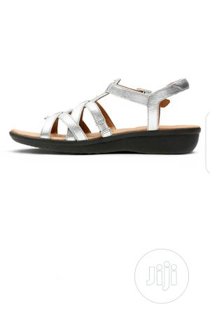 Clarks Silver Leather Sandal | Shoes for sale in Lagos State, Agboyi/Ketu