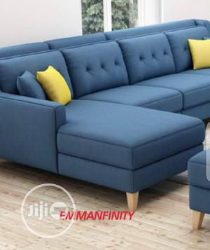 L Shaped Leather  Sofa in Blue   Furniture for sale in Abuja (FCT) State, Asokoro