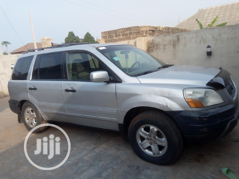 Honda Pilot 2004 EX 4x4 (3.5L 6cyl 5A) Silver   Cars for sale in Ado-Odo/Ota, Ogun State, Nigeria