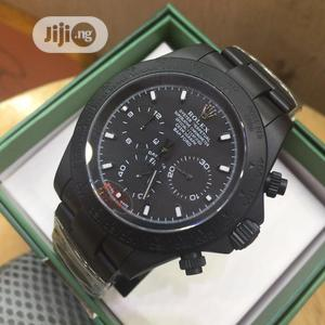 High Quality Rolex Black Dial Stainless Steel Watch for Men | Watches for sale in Lagos State, Magodo