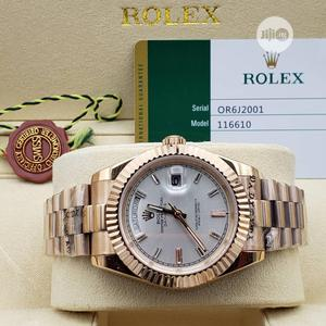 High Quality Rolex Day-Date White Dial Stainless Steel Watch | Watches for sale in Lagos State, Magodo