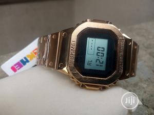 Skmei Stainless Steel Water Resistant Digital Watch | Watches for sale in Lagos State, Ejigbo