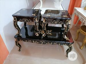 Royal Center Table and Two Side Stool   Furniture for sale in Lagos State, Ikorodu