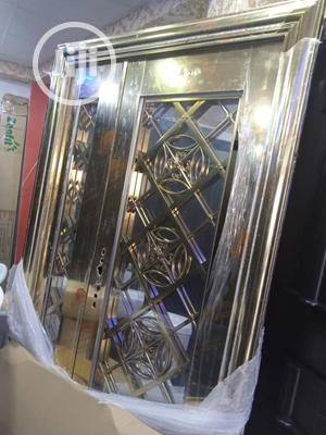 4ft Glass Door in Door Gold | Doors for sale in Lagos State, Orile