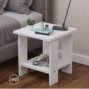 Simple Exquisite Wooden Side Table-White   Furniture for sale in Lagos State, Amuwo-Odofin