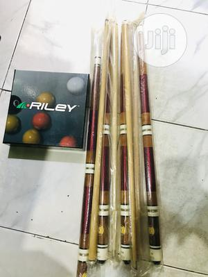 Snooker Sticks(Two Piece) and Balls   Sports Equipment for sale in Lagos State, Surulere