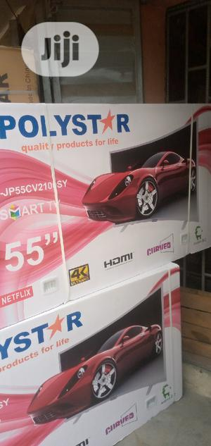 Polystar TV Curved 55inches Smart TV   TV & DVD Equipment for sale in Lagos State, Ikeja
