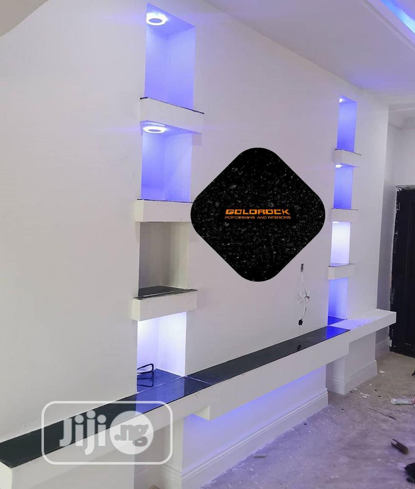 Archive: POP Ceiling, Wall Screeding And Wall Designs, TV Stand,