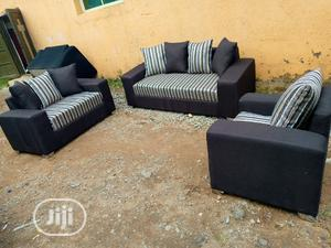 6 Seaters Sofa Chairs With Pillows. Fabrics Couches | Furniture for sale in Lagos State, Ikeja