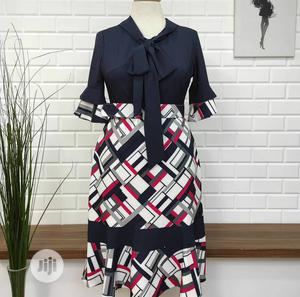 Quality Turkey Ladies Belted Bow Dress   Clothing for sale in Lagos State, Ifako-Ijaiye
