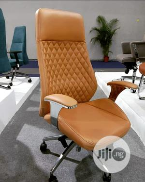 Executive Brown Leather Swivel Chair | Furniture for sale in Lagos State, Lekki