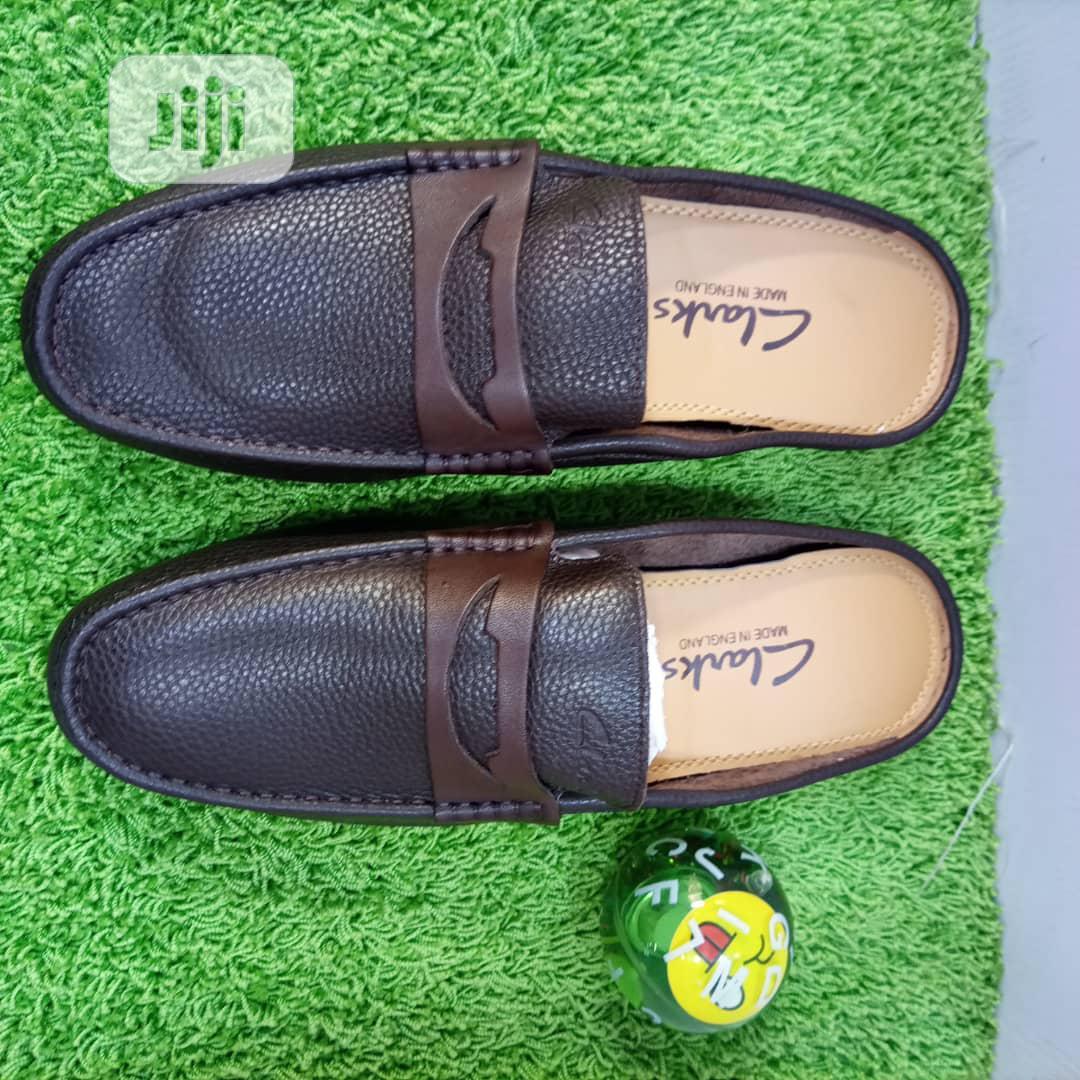 Leather Clarks Half Shoe
