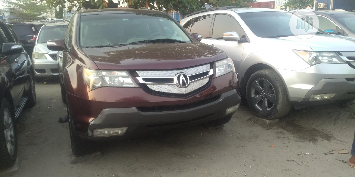 Acura MDX 2008 Red