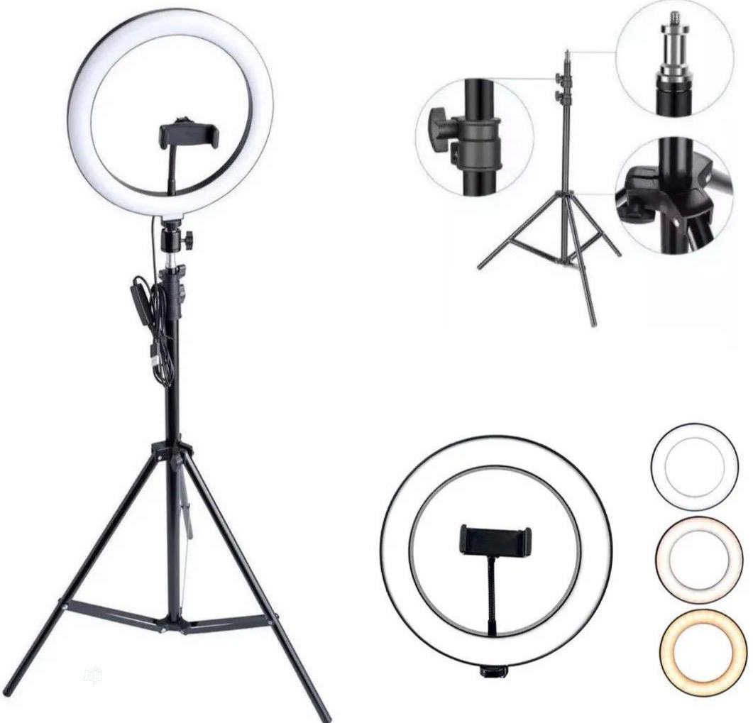 26cm/10 Inch LED Ring Light With Light Stand Universal