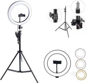 26cm/10 Inch LED Ring Light With Light Stand Universal | Accessories & Supplies for Electronics for sale in Lagos State, Ikeja