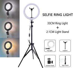 33CM LED Ring Light Dimmable Makeup Light +2.1 Meter Tripod | Accessories & Supplies for Electronics for sale in Lagos State, Ikeja