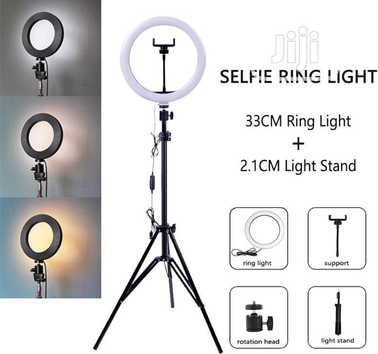 33CM LED Ring Light Dimmable Makeup Light +2.1 Meter Tripod