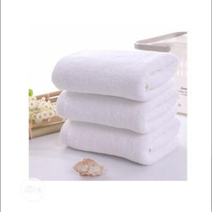 Set of 3 Large Bath Towel- White | Home Accessories for sale in Lagos State, Lagos Island (Eko)