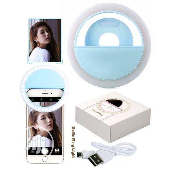 Rechargable LED Mini Selfie Ring Light for Phones Tablets