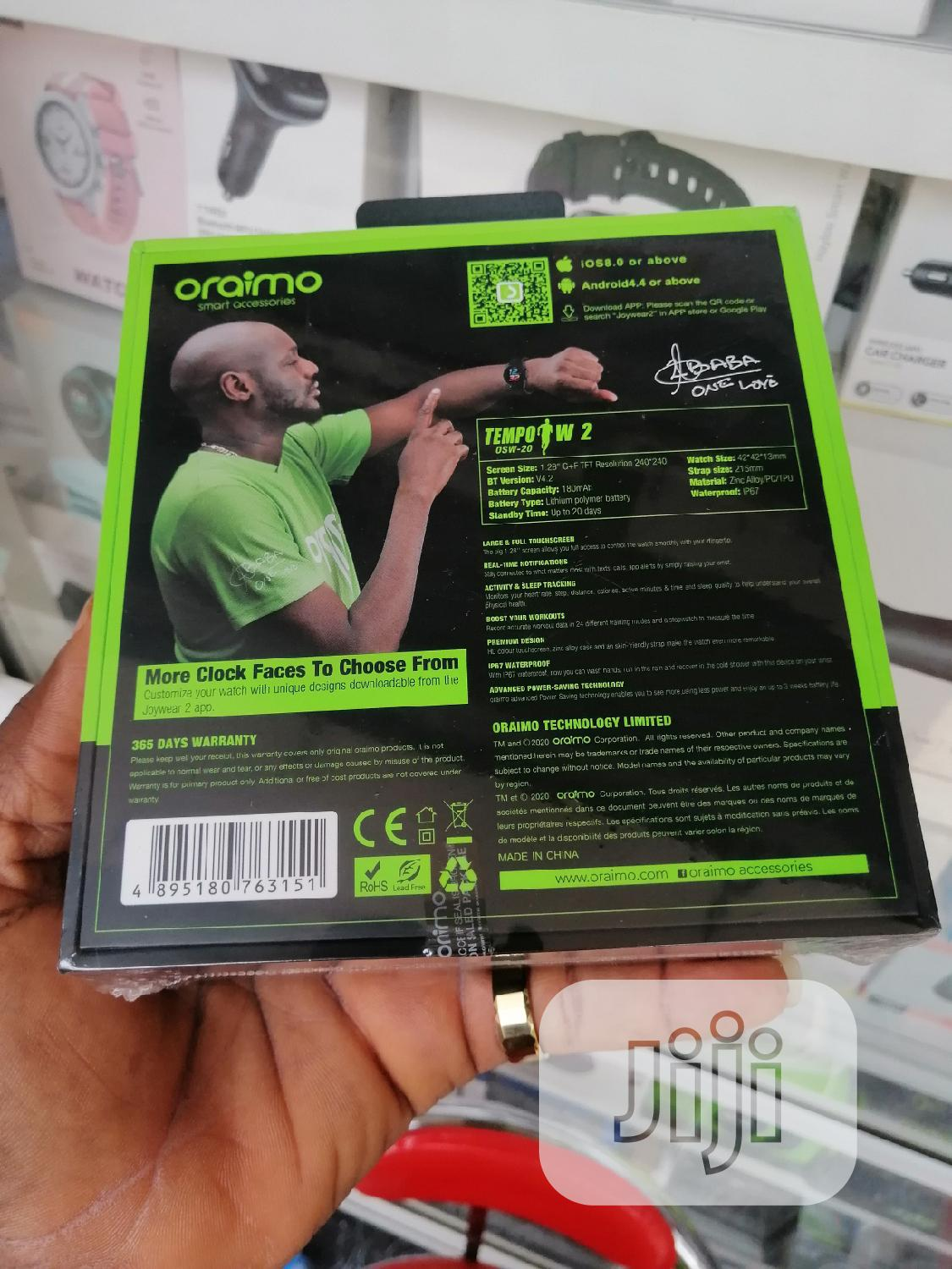 Tempo S W2 Oraimo Smart Watch OSW-20 | Smart Watches & Trackers for sale in Ikeja, Lagos State, Nigeria