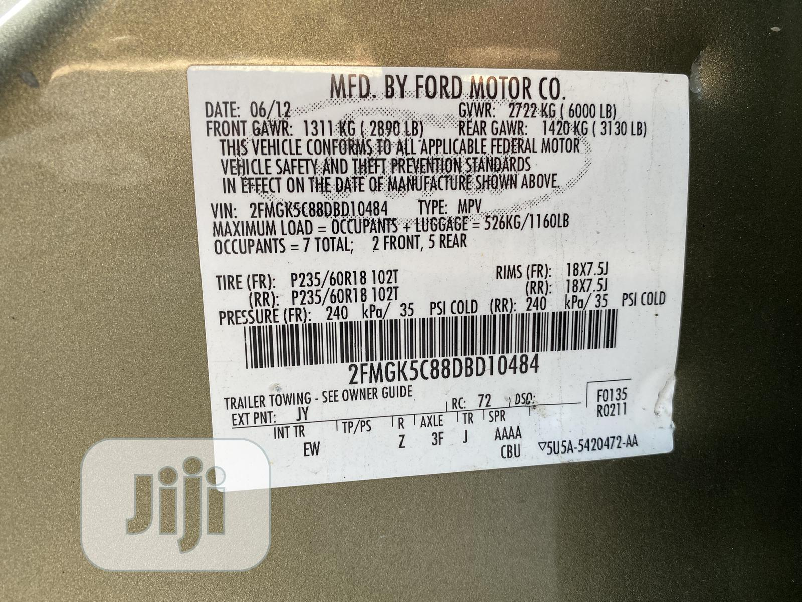 Ford Flex 2012 Green | Cars for sale in Garki 1, Abuja (FCT) State, Nigeria