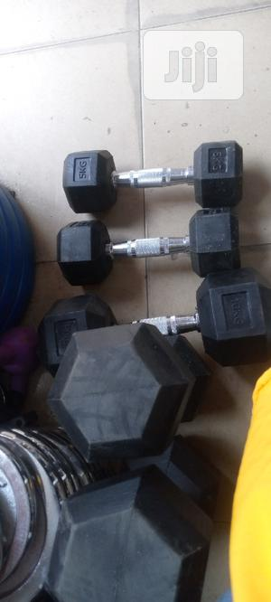 Best Quality Fitness Hexagon Dumbbell At 2000 Per Kg | Sports Equipment for sale in Rivers State, Port-Harcourt