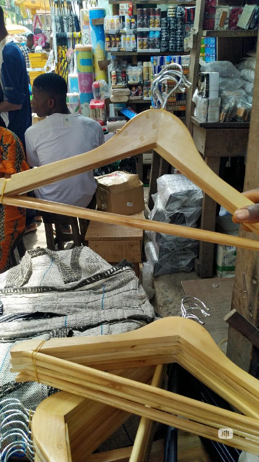Wooden Coat Hanger (10pcs)   Home Accessories for sale in Surulere, Lagos State, Nigeria