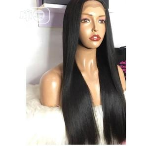 Beautiful Closure Straight Hair Wig, Natural Colour 24inch | Hair Beauty for sale in Lagos State, Victoria Island