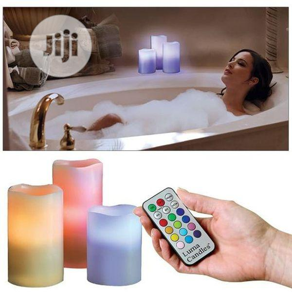 Decorative Flameless Luma Candles With Remote