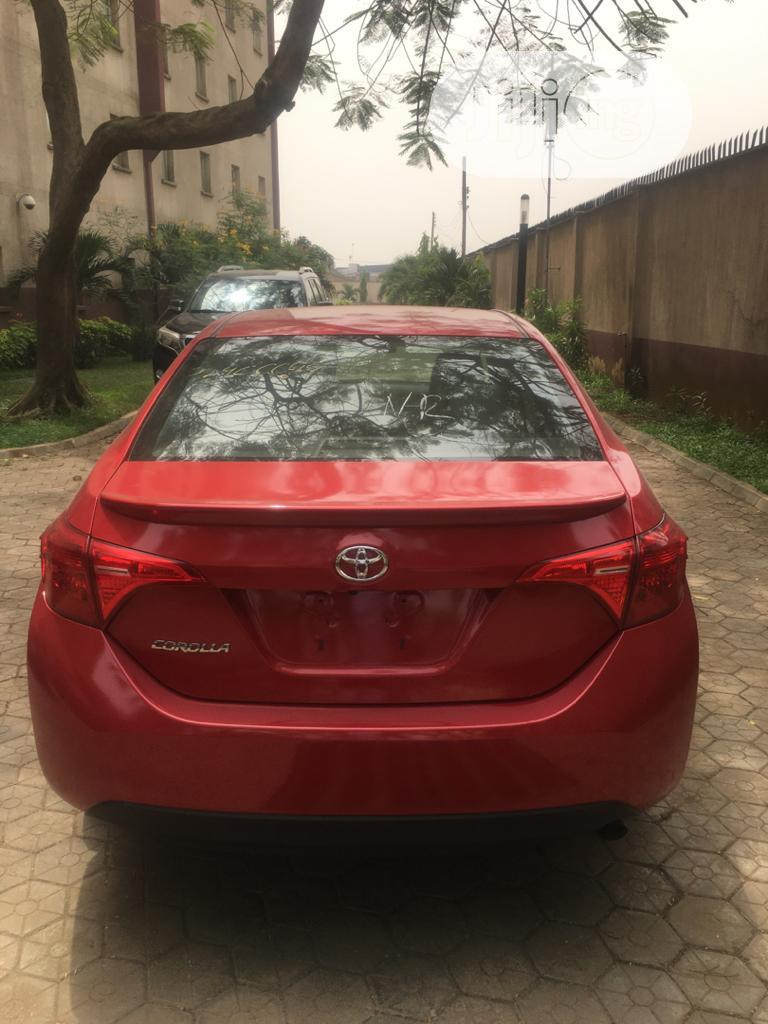 Toyota Corolla 2018 LE (1.8L 4cyl 2A) Red | Cars for sale in Isolo, Lagos State, Nigeria