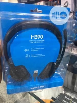 H390 USB Computer Headset With Noise Cancelling Mic | Headphones for sale in Lagos State, Ikeja