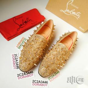 Christian Louboutin X Marlon Gobel Main Gold Spiked Loafers   Shoes for sale in Lagos State, Ojo
