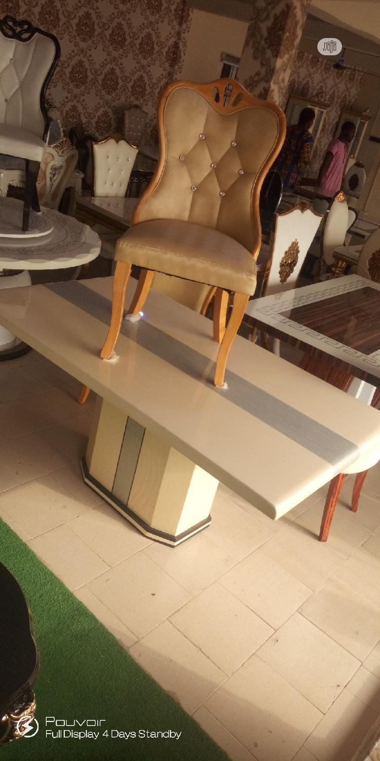 Archive: Good Quality Imported Marble Dining Table With Six Chairs