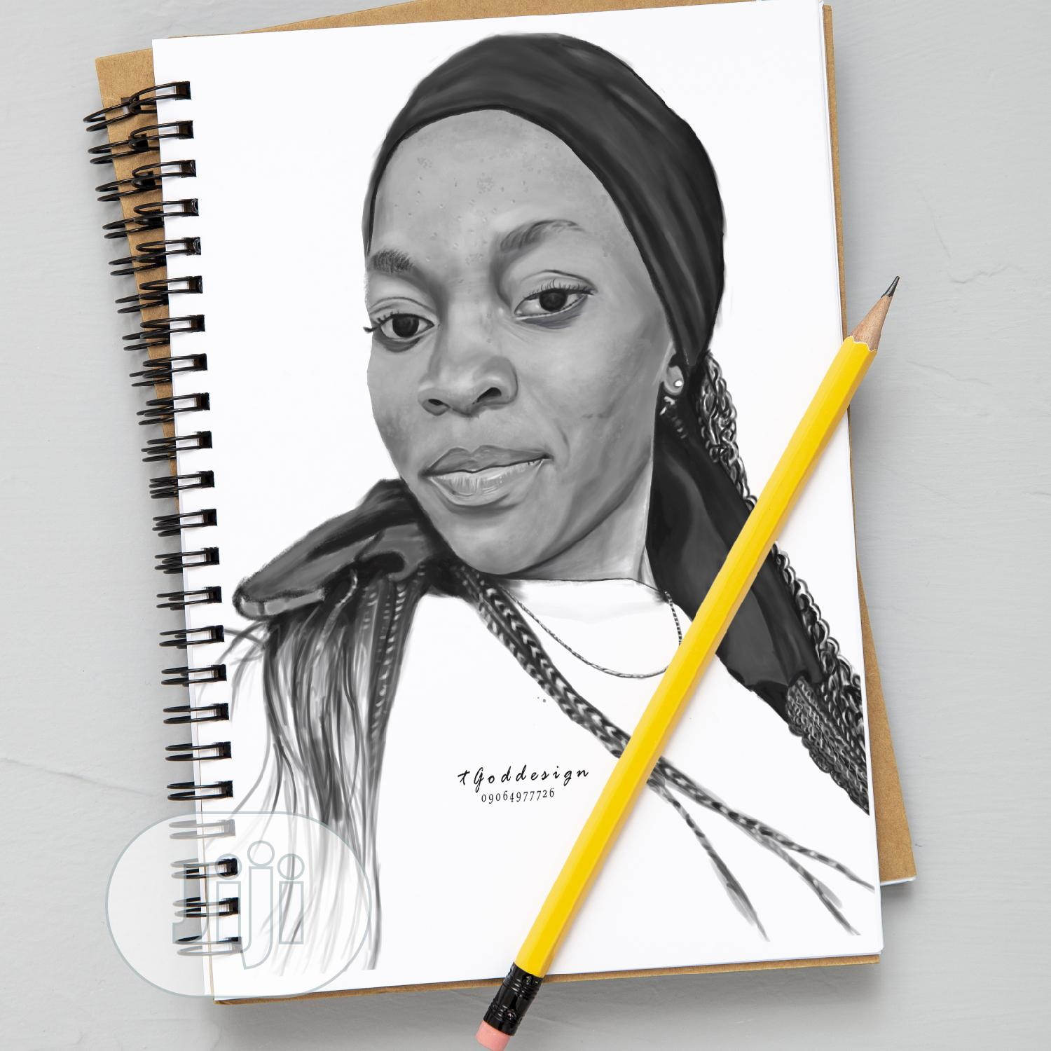 Pencil Or Coloured Portrait Painting | Arts & Crafts for sale in Nnewi, Anambra State, Nigeria