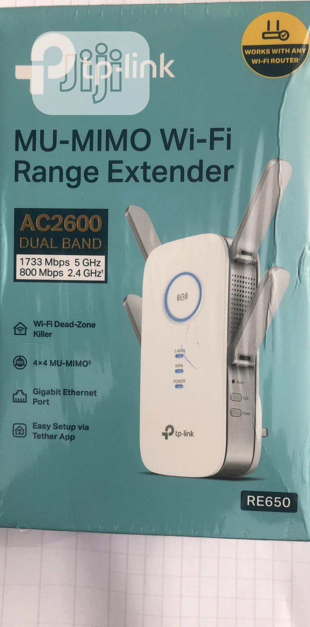 Tp-Link Mu Mimo Wifi Range Extender Re650   Networking Products for sale in Ikeja, Lagos State, Nigeria