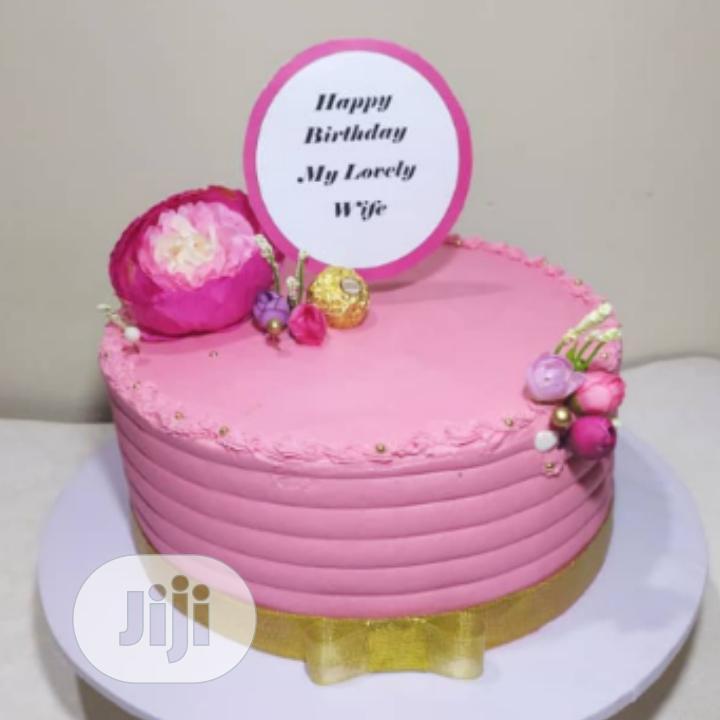 Fluffy Chocolate and Vanilla Simple Birthday Cake