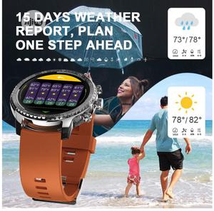 New Tinwoo Smart Watch, Fitness Tracker (Silver Band Brown) | Smart Watches & Trackers for sale in Lagos State, Lekki