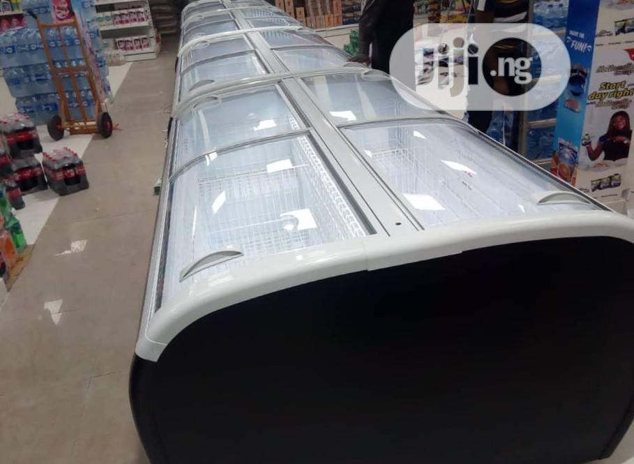 Black Display Freezer For Supermarket
