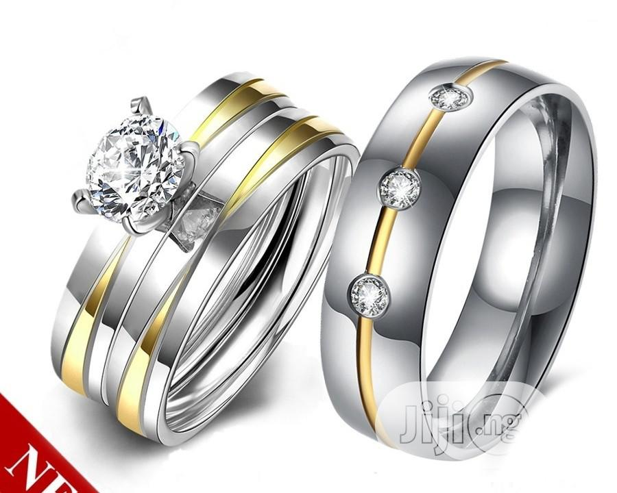 Gold And Silver Wedding Ring Set