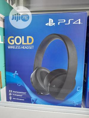 Sony PS4 Gold Wireless Headset- Playstation 4 | Headphones for sale in Lagos State, Ikeja