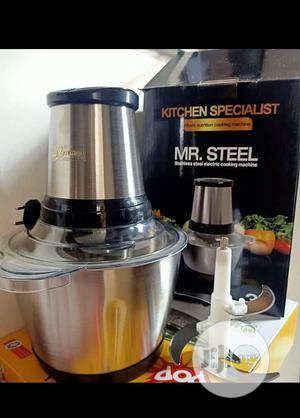 3L Mr Steel Electric Yam Pounder Food Processor (4blades) | Kitchen Appliances for sale in Lagos State, Ifako-Ijaiye